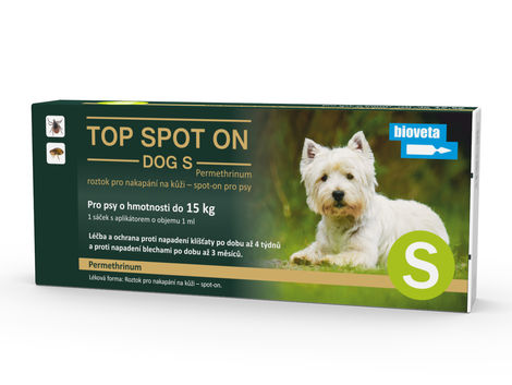 TOP SPOT ON DOG S 1x1 ml (pes do 15 kg)